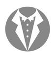 male wedding dress icon vector image vector image