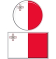Maltese round and square icon flag vector image vector image