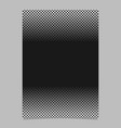 monochrome halftone geometric dot and square vector image vector image