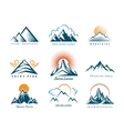 Mountain logo set vector image vector image