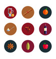 mulled wine infographic concept winter season hot vector image
