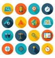 Navigation icon flat set vector image