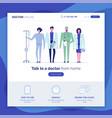 online doctor set 3 vector image vector image