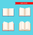 open book icon set vector image vector image