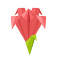 origami flower vector image