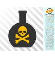poison flat icon with bonus vector image vector image
