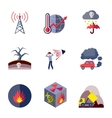 Pollution icons set flat vector image