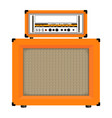 realistic classic guitar amplifier with cabinet vector image vector image
