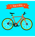 rent a bike vector image vector image