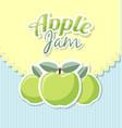 retro apple jam label vector image vector image