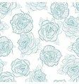 Rose seamless pattern outline vector image vector image