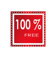 sale 100 free banner design over a white vector image vector image