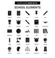 school elements glyph icon set vector image vector image