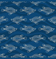 seamless pattern fishes silhouettes australian vector image vector image