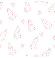 seamless watermelons pattern background with vector image