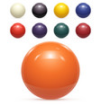 set colorful balls isolated vector image