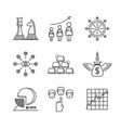 set of business icons and concepts in sketch style vector image vector image