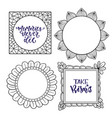 set of frames handwritten isolated vector image