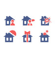 set of house insurance service icons safety and vector image vector image