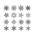 snowflake winter isolated set flake snow on vector image