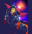 space chimp biker vector image