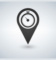 stopwatch and map pointer logo combination time vector image vector image