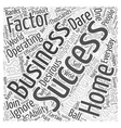 Success Factors For A Successful Home Business Who vector image vector image
