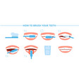teeth hygiene brush washing tooth toothbrush and vector image