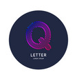 the letter q latin alphabet display vector image vector image