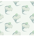 Tile mint green cupcake pattern or background vector image vector image