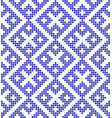 traditional russian and slavic ornament in blue vector image vector image