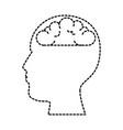user profile with brain silhouette avatar icon vector image