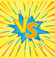 versus letters fight vector image vector image