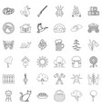 village icons set outline style vector image vector image