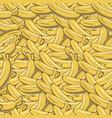 vintage banana seamless pattern vector image vector image