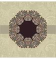 Vintage Label in Floral Background vector image vector image