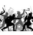 warrior battle cutout vector image vector image