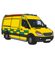 yellow ambulance vector image vector image