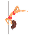 young pole dance woman dance on the pylon vector image