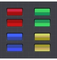 Set of colored buttons Web element vector image