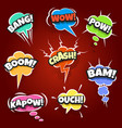 set of comic bubbles drawn in pop art style vector image