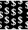 Dollar symbol seamless pattern vector image