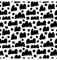 abstract black shapes seamless pattern vector image