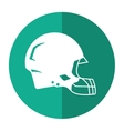 american football helmet protection shadow vector image vector image