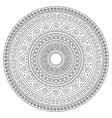 ancient greek round key mandala stroke pattern vector image