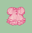 baby pink dress hand-drawn vector image