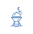 bbq line icon concept bbq flat symbol vector image vector image
