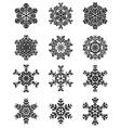black snowflakes vector image vector image