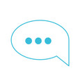 blue color silhouette of speech bubble with vector image vector image