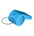 blue whistle icon isometric style vector image